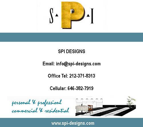 Contact SPI DESIGNS Susan Peterson